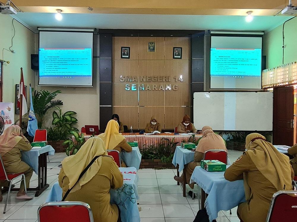 Gelar Rapat Kelulusan, Siswa SMA Negeri 14 Semarang Lulus 100%